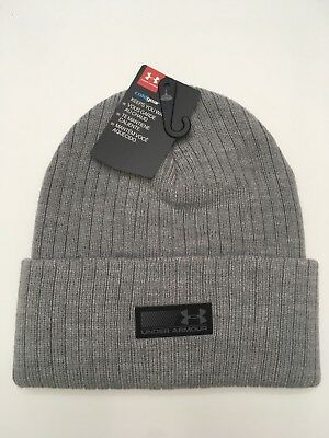 27411c11b MEN'S UNDER ARMOUR Truck Stop Beanie Knit Beanie Winter Hat, Gray Grey OS
