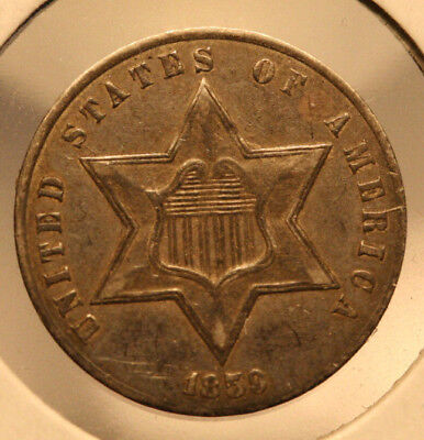 1859 Three Cent Silver