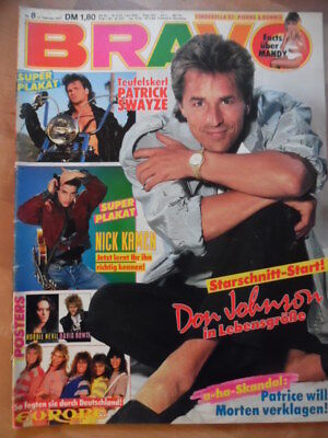 BRAVO 8 - 12.2. 1987 (5) Don Johnson EUROPE Patrick Swayze Tony Hadley Krokus