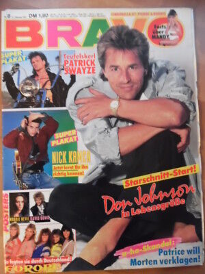 BRAVO 8 - 1987 (4) Don Johnson David Bowie EUROPE Robbie Nevil Patrick Swayze
