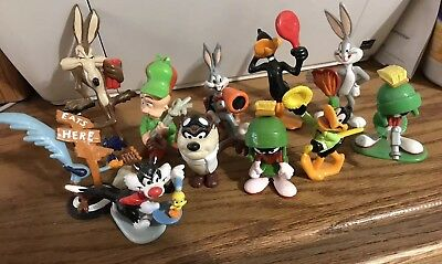 Vintage Applause Looney Tunes PVC Figure Lot of 11 Bugs Taz Marvin Sylvester