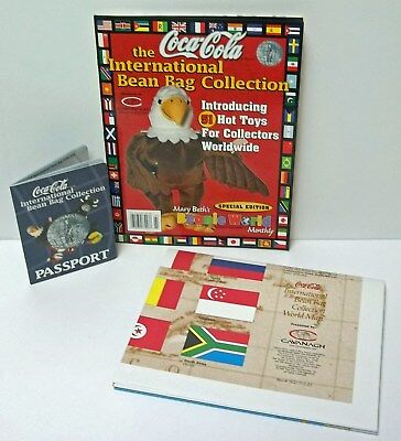 Beanie World Coca Cola International Bean Bag Collection Magazine Map & Passport