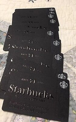 20New Starbucks Special Edition Heritage Gift Cards Lot Recycled Paper