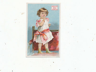 C7520    VICTORIAN TRADE CARD  james pyles pearline  SOAP GIRL VARIETY