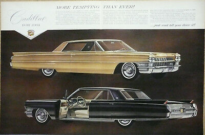 1964 Cadillac Fleetwood Coupe DeVille Print Ad