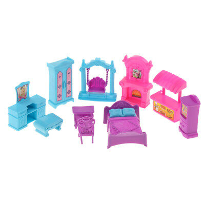 12pcs/set Dollhouse Furniture Pretend Role Play Toy Set for Kids Children