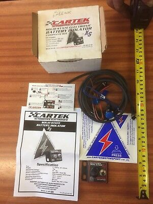 New Cartek Solid State race  rally car Electronic Battery Isolator Kit
