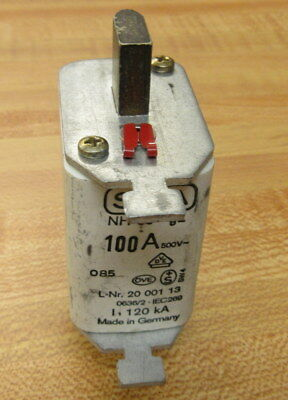 Siba 20-001-13 Fuse 100A NH 00 GL (Pack of 3)