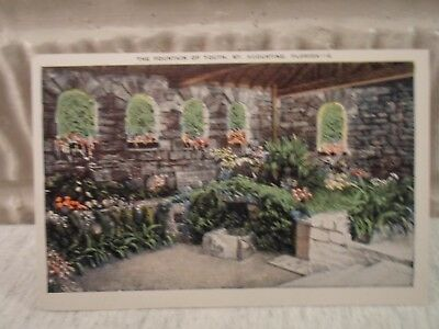 St Augustine Fla Florida, The Fountain of Youth,early postcard,