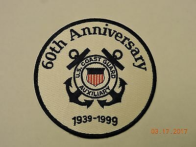 US Coast Guard Auxiliary 60th Anniversary 1939-1999 USCG Military Patch #92