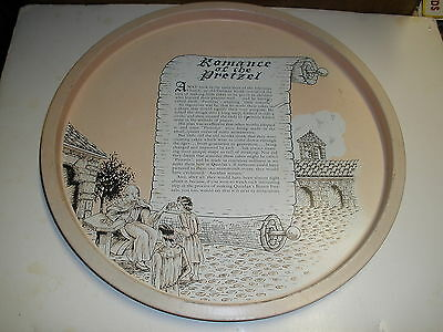 Romance of the Pretzel tin tray vintage story of the pretzel