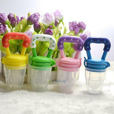 SN9F 1Pcs Baby Pacifier Fresh Food Milk Nibbler Feeder Kids Nipple Feeding