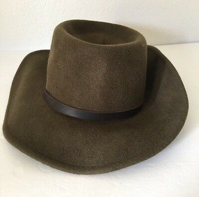 GOORIN BROS BROWN Fedora 100 % Wool Hat Small Fishing Hat -  29.99 ... aeeff2edee60