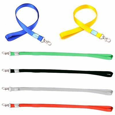 5-50X Neck Strap Lanyard Multi Colour Safety ID Card Name Badge Holder New JU
