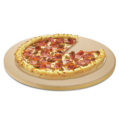 Unicook Heavy Duty Ceramic Pizza Grilling Stone, 15 Inch Round Baking Stone, ...