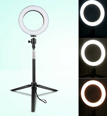 LED Ringlight 3 Modes 40W 5500K Dimmable Ring Lamp Camera Filling Light Indoors