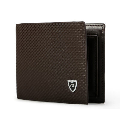 Mens Leather Wallet Bifold Purse Money Clip Photo Credit Card TF SIM Card Holder