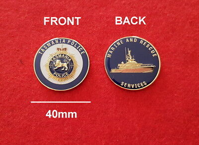 Tasmania Police Marine and Rescue Services Challenge Coin (social)