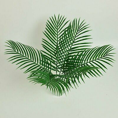Plastic Artificial Leaf Tropical Palm Leaves Party Home Garden Decoration YE