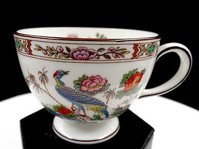 "Wedgwood England Kutani Crane Birds & Floral 2 5/8"" Leigh Shaped Cup 1971-1998"