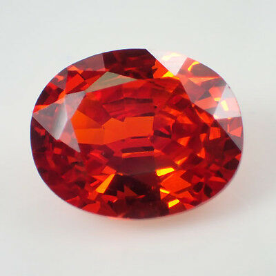 Red Cubic Zirconia 15.5Ct Oval Shape 14x12mm AAA Gem