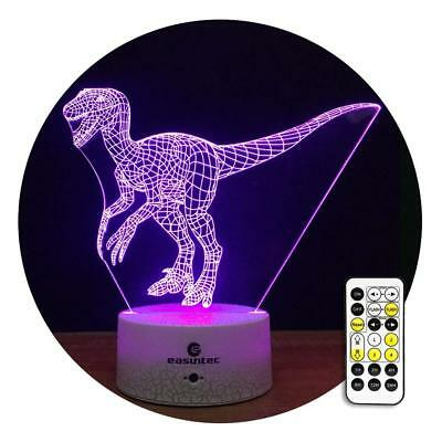 New Kids Night Light Dinosaur Night Light 7 Colors Change with Timer Remote Gift