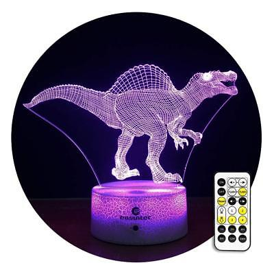 Kids Night Light Dinosaur Night Light 7 Colors Change with Timer Remote Toy Gift