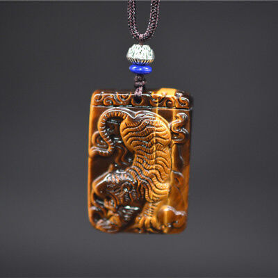 Statue Jade Pendant  Jewelry  Natural Tiger Eye Tiger Necklace Pendant  Amulet