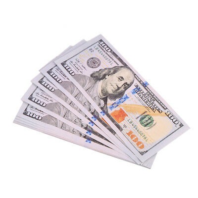 20 Sheets Full Print Play Money Copy of $100 Dollar Bills Stack US Currency IS