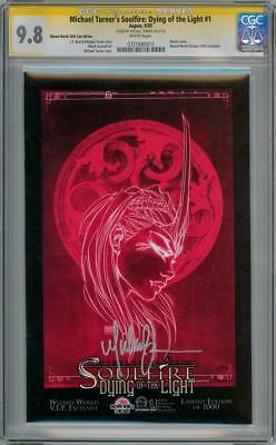 Soulfire Dotl 1E Wizard World Vip Cgc 9.8 Signature Series Signed Michael Turner