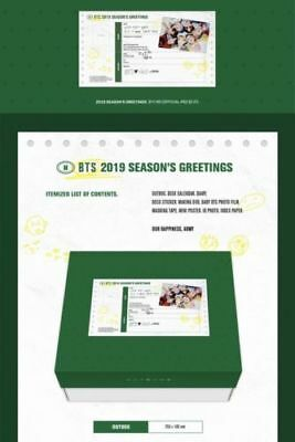 BTS 2019 SEASON'S GREETINGS Desk Calendar+Diary+MakingDVD+Postcards+Etc FULLbox