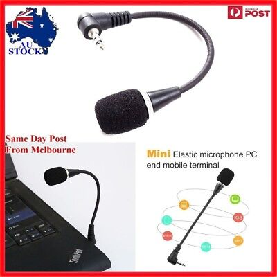 AU Mini USB Microphone Mic For Go Pro PC Notebook Laptop Skype 3.5mm