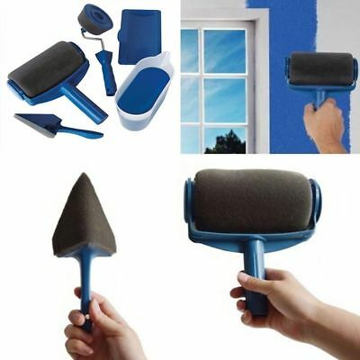 5/6pcs Paint Roller Brush Set Home Wall Painting Edger Long Handle Tool Kit TOP