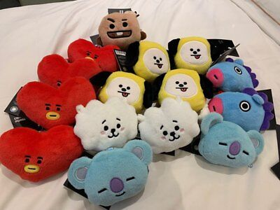 BTS  BT21 NEW OFFICIAL Goods LINE STORE COIN PURSE Doll KeyChain keyring