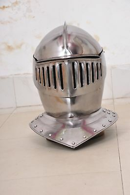 European Closed Helmet Medieval Knight Armour Gladiator Roman Barbute