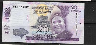 Malawi #57 2016 Unused New 20 Kwacha Currency Banknote Bill Paper Money