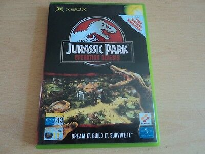 Replacement Jurassic Park Operation Genesis XBox Case - Empty Box Only