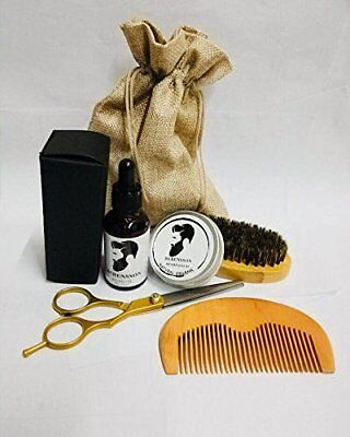 Berensson Beard Grooming & Trimming Kit for Men Care - Beard Brush, Beard Comb,
