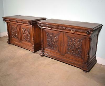 *Pair of Antique French Renaissance Revival Sideboards/Consoles/Bar Cabinets