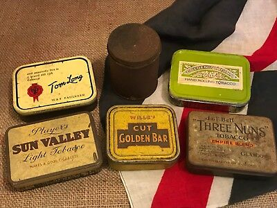 Old Collection Joblot of Vintage Tobacco Tins Collectable Smoking Tobacciana