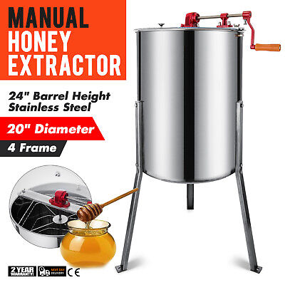 Stainless steel honey extractor 4/8 frames HONEY SPINNER bee - 4/8 honeycombs