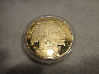 2009 $50 Gold Coin gold plated tribute copy- Indian Head buffalo back