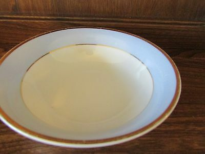 Royal Doulton~Daily Mail~Blue, White and Gilt 1X16cms Soup/Cereal/Dessert Bowl