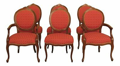 L30496EC: Set Of 6 CALICO CORNERS Upholstered French Dining Room Chairs