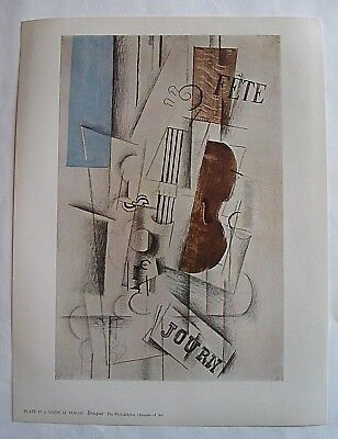 GEORGES BRAQUE Musical Forms 1958 Vintage PRINT