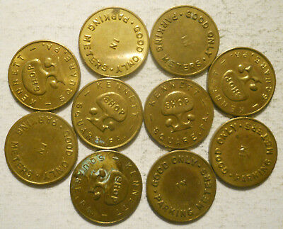 Lot of 10 Kennett Square (Pennsylvania) parking tokens - PA3507A