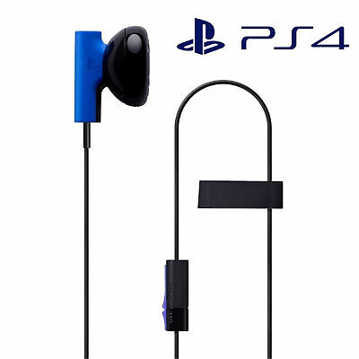 Official Playstation 4 PS4 Mono Chat Earbud with Microphone Gaming Headset  Mic U d432cff68e17