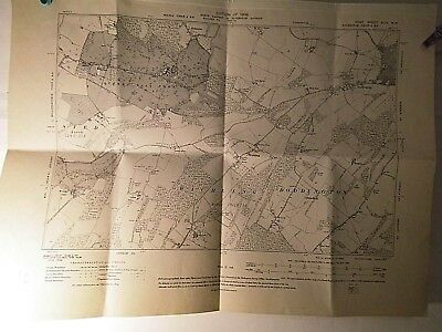 """Torry Hill,Wichling & Doddington:kent Os Planners Map 6"""" Scale 1865-Wartime 1942"""