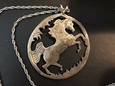 Jeanne Mellin Morgan Horse necklace