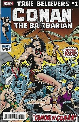 Conan The Barbarian Comic Issue 1 Classic Reprint True Believers 2019 Roy Thomas